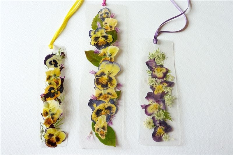 Laminated Pressed Flowers ~ Laminated pressed flower bookmarks featuring by pauladyer