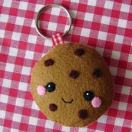 Happy cookie keychain
