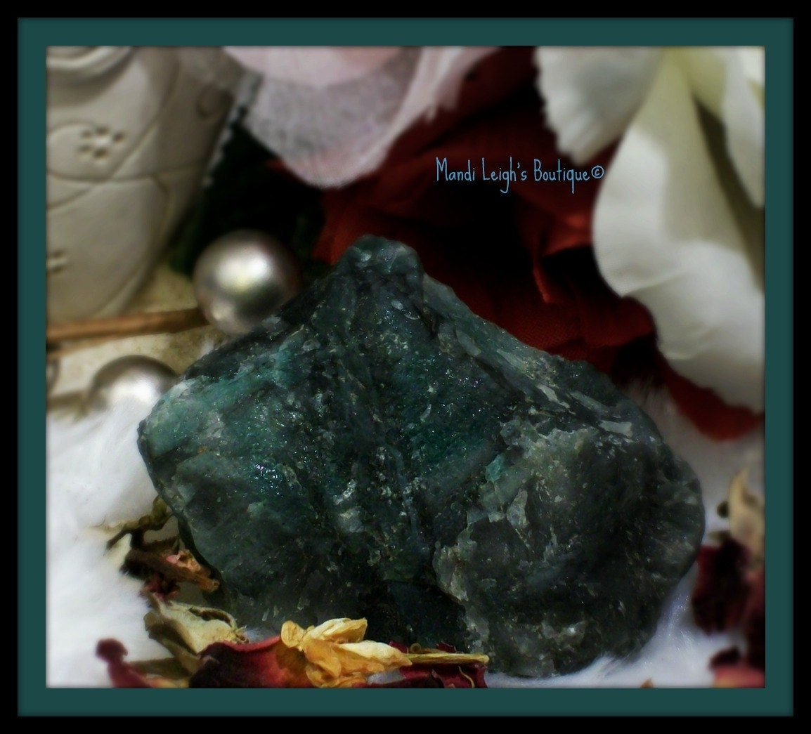 ON SALE Medium Sized Natural Polished Rough Green Emerald Stone