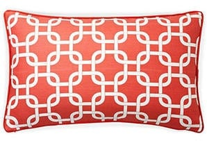 "Pillow Cover Cushion in coral link  geometric  12x24"" or select your size - PillowPanache"
