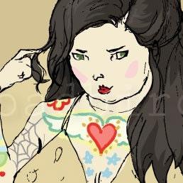 Tattooed Lady 12x12 Print