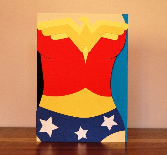 Wonder Woman Costume Card By BrittsLittlePaper On Etsy