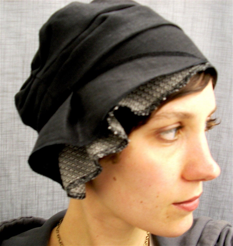 Black Linen Cloche
