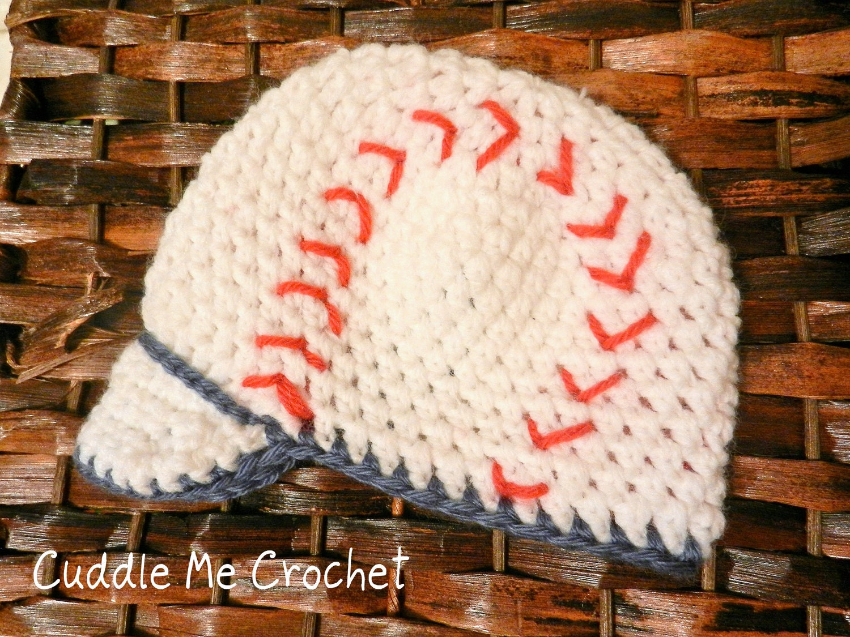 items similar to crochet baby baseball hat on etsy