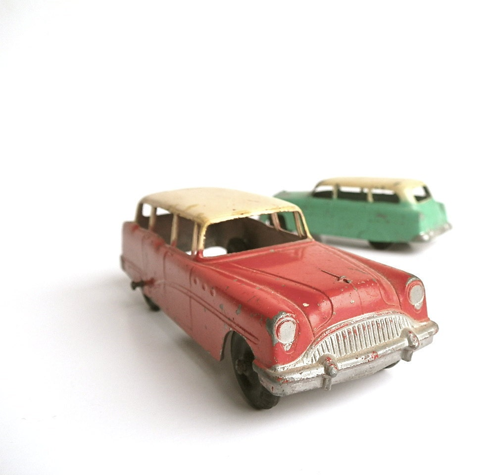Vintage Station Wagons Tootsie Toy Cars Buick By