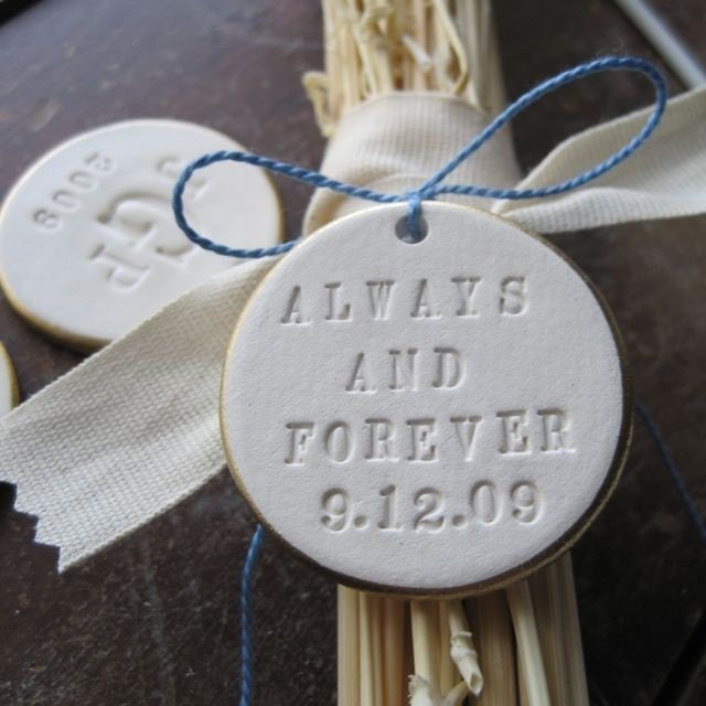 CUSTOM Bouquet Text Tile (TM) with gold or silver leaf edge - ornament and something blue- a modern heirloom by Paloma's Nest