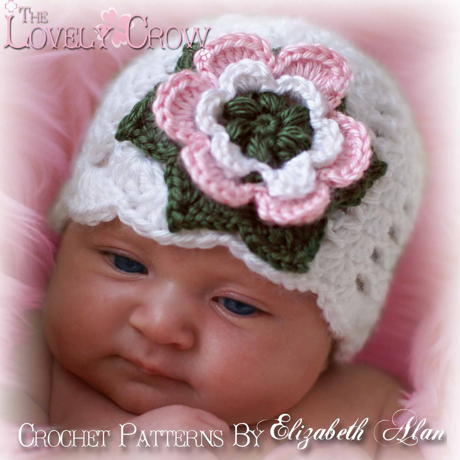 Free Crochet Patterns For Baby Girl Beanie : Baby Girl Beanie Crochet Pattern for KINDRED by TheLovelyCrow