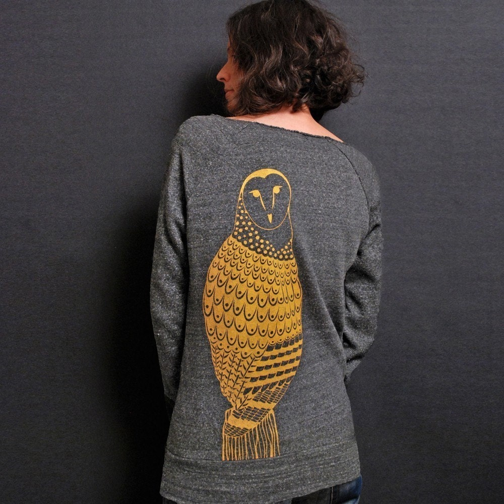 Heather Grey L/S Sweatshirt - Golden Owl