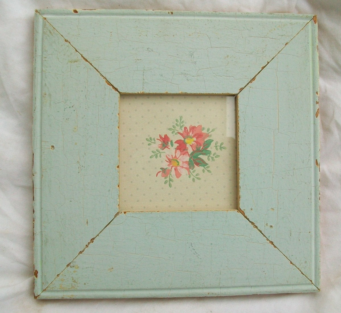 Old New York Architectural Salvaged Wood Shabby Picture Frame Reclaimed Chic S7700