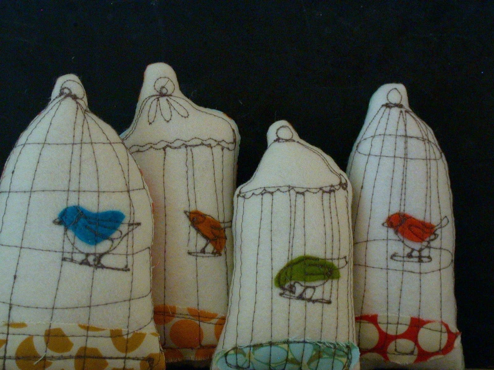 little bird cages--ornaments or decorative object
