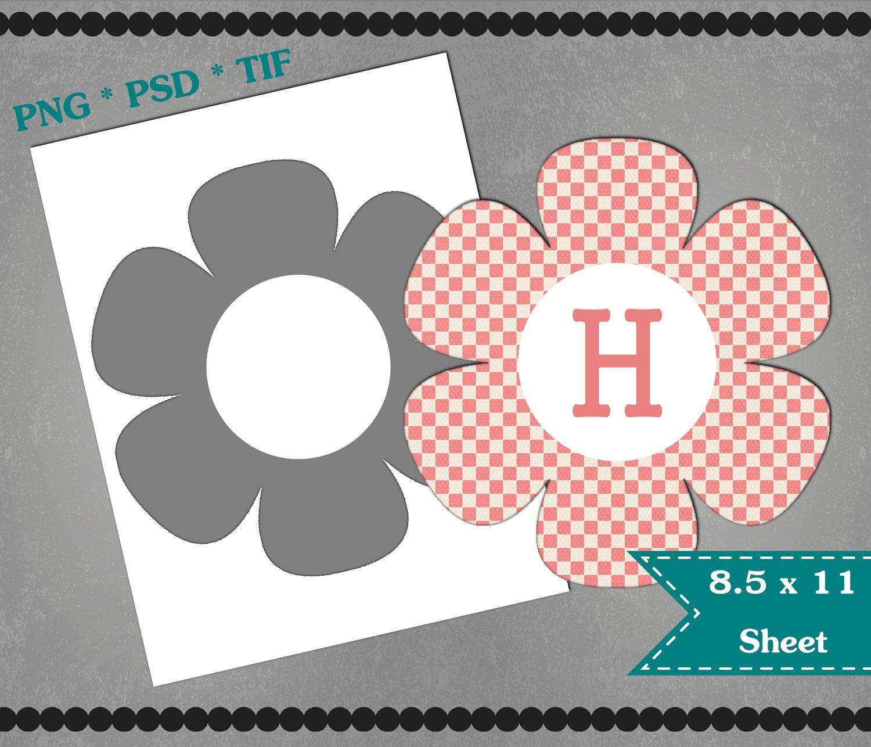 19 flower template printable grunge vintage template