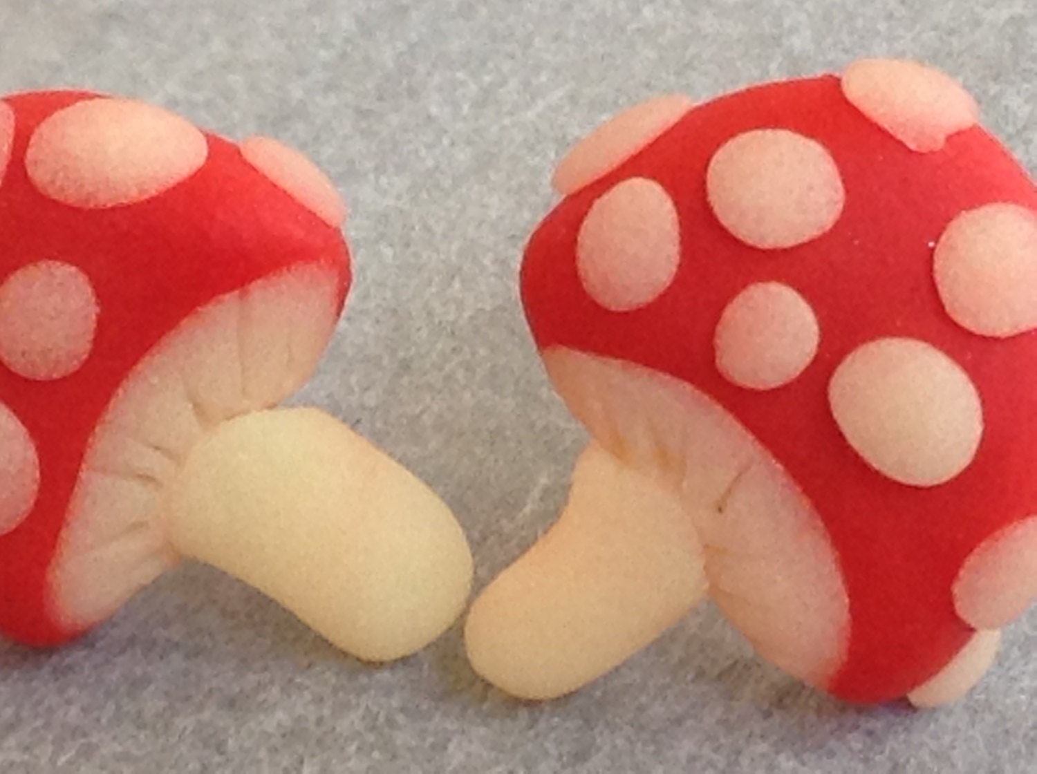 Toadstool Post Earrings made from polymer clay and sterling silver. - WhenLauraMeetsClay