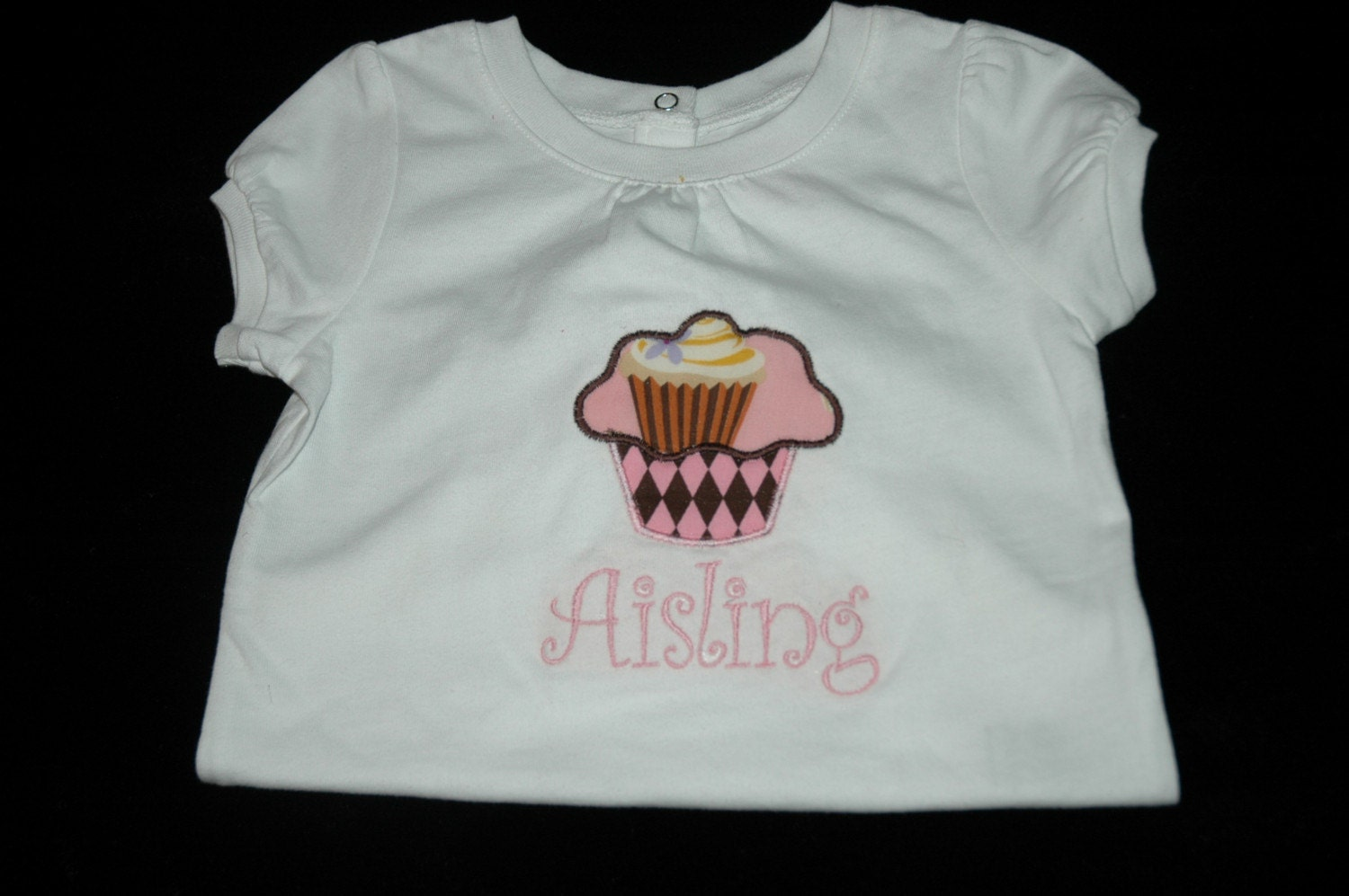 Personalized Ice Cream Cone or Cupcake Birthday Tshirt