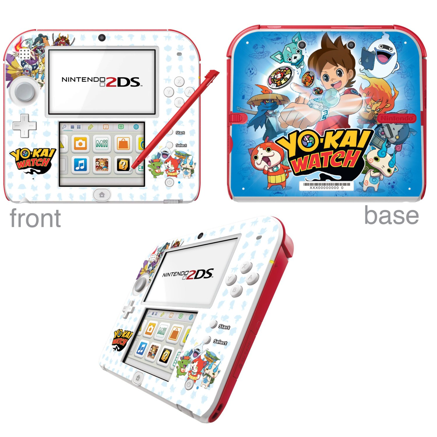 YoKai Watch Vinyl Skin Sticker for Nintendo DS liteDSiDSi xl3DS3DS xlNew 3DS cstickNew 3DS xl cstick2DS