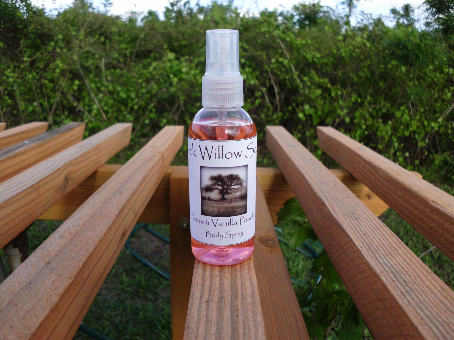 Handmade Body Spray, Frosted Strawberry scented Black Willow Soaps on Upcycle Fever