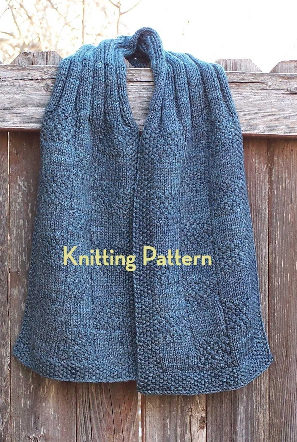 Pattern Seamans Scarf by IntrepidTulips on Etsy