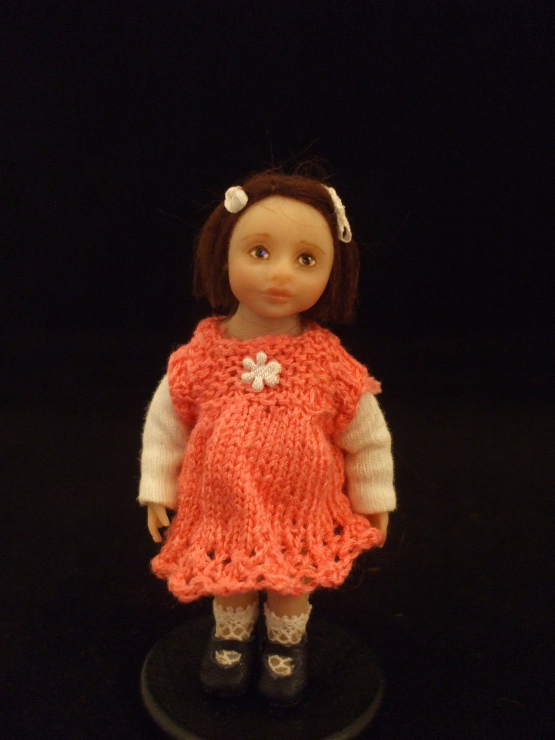 CDHM Artisan Julie Campbell, IGMA Artisan of Bellabelle Dolls, OOAK hand sculpted 1:12 scale Child Doll