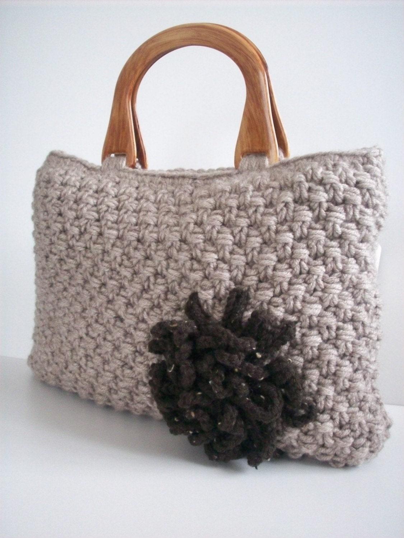 NzLbags کیف دستی -- کیف دستباف Knitted -- قهوه ای روشن Nr - 049