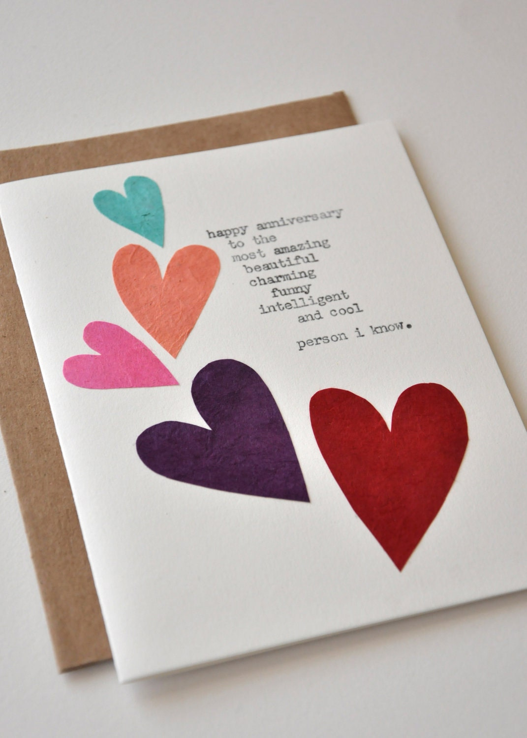 ... Handmade Greeting Card - Anniversary Card for Wife or Husband on Etsy