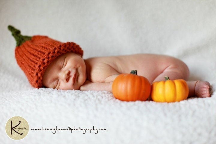 Lil' Pumpkin Hat - Great Photo Prop -Many Sizes Available