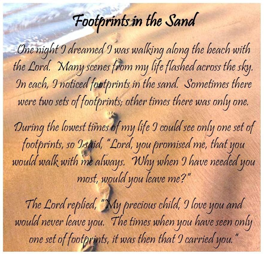 Footprints in the sand poem printable version