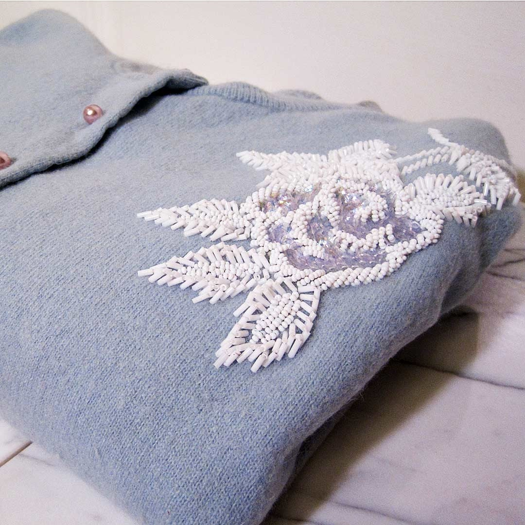 Vintage Powder Blue Sweater