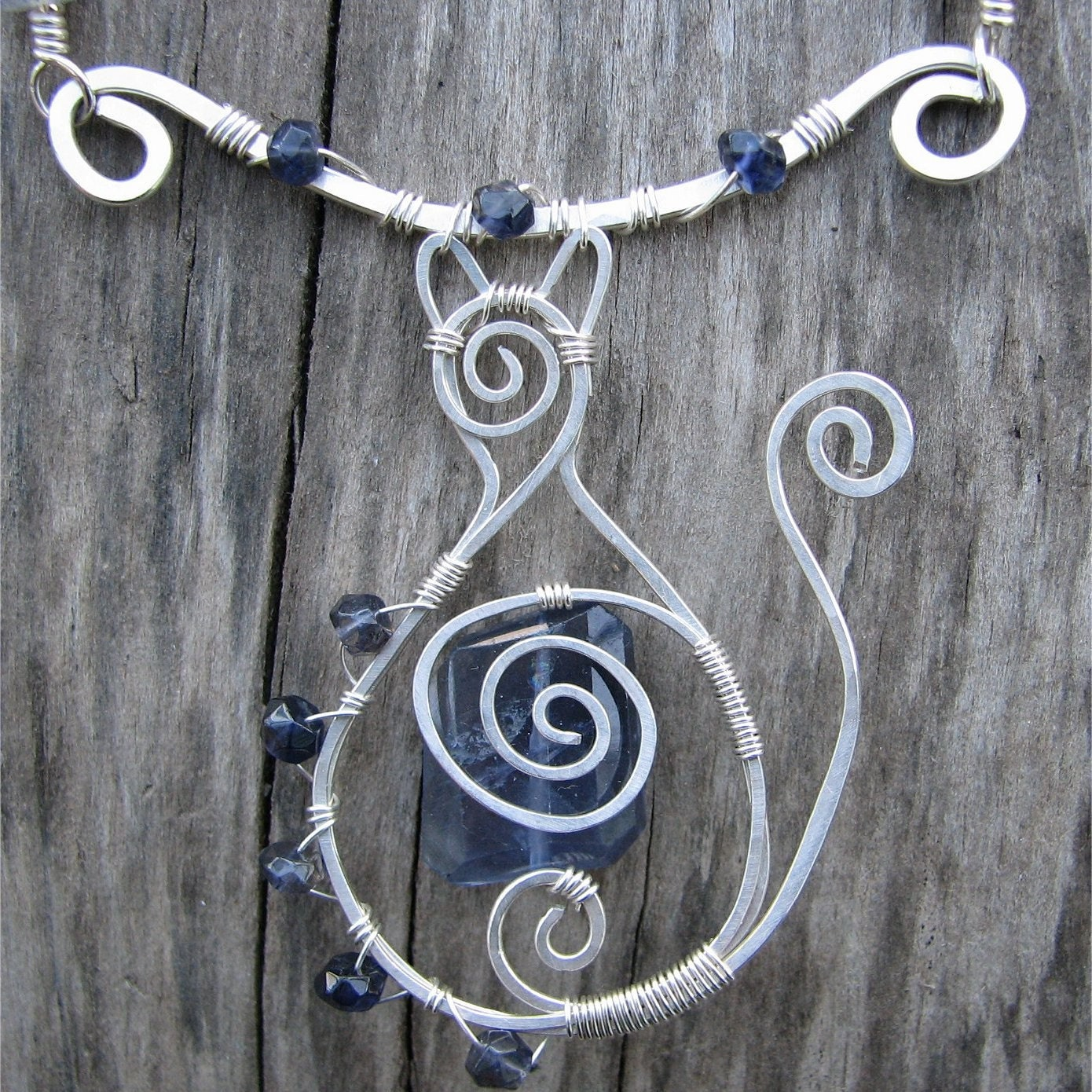 Wayfarer Cat Necklace by Serpent's Dance Designs