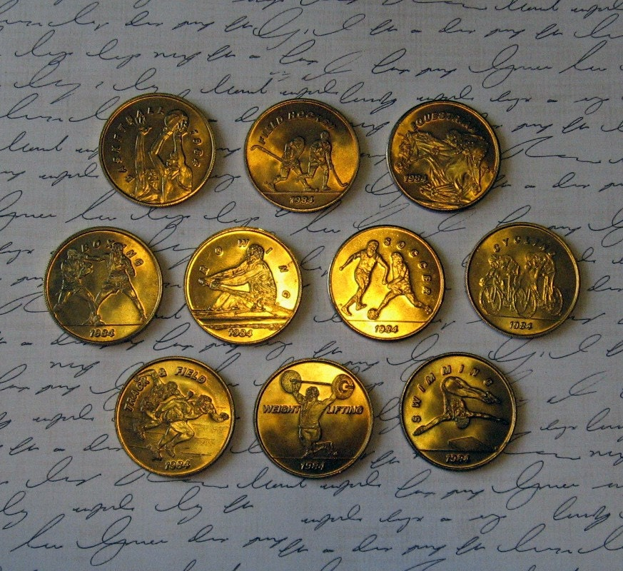 1984 olympic transportation tokens collector coins by