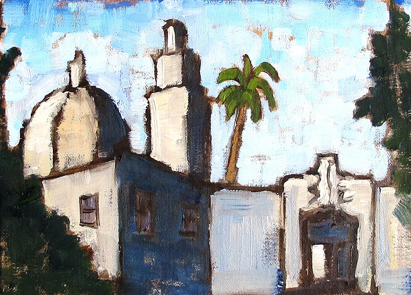 Painting of San Diego Museum of Man