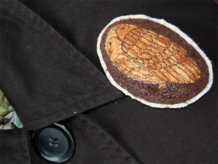 Embroidered Brooch - Brown Owl