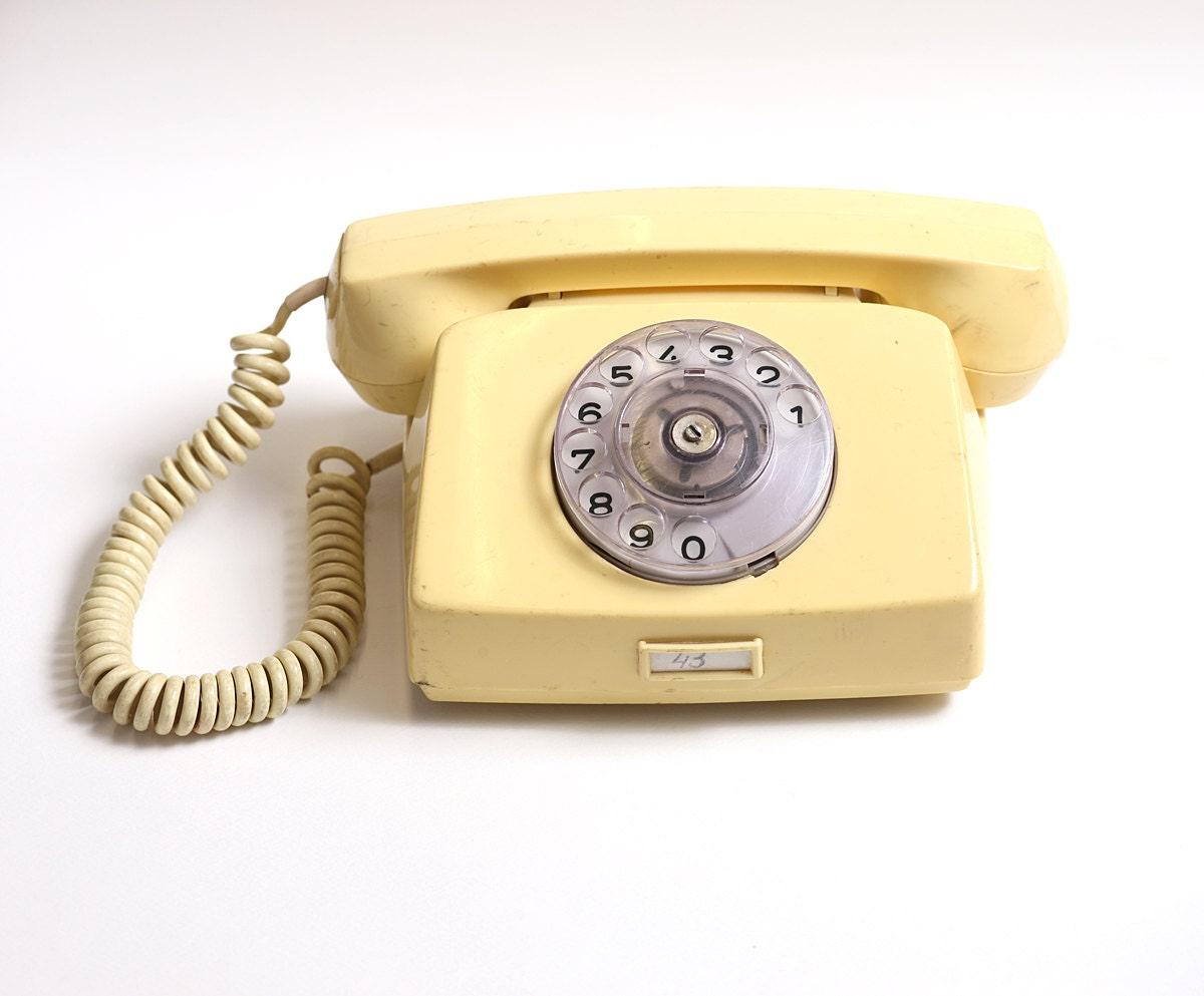 Vintage rotary telephone, vintage telephone, retro phone - mmvintagestore