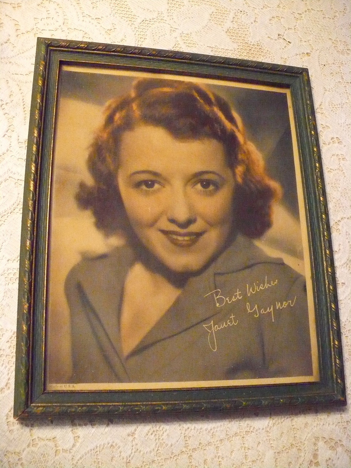 Janet Gaynor framed picture. From AusableRiverTrader