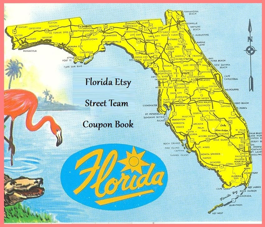 Florida Etsy Street Team Coupon Book - TeamFEST