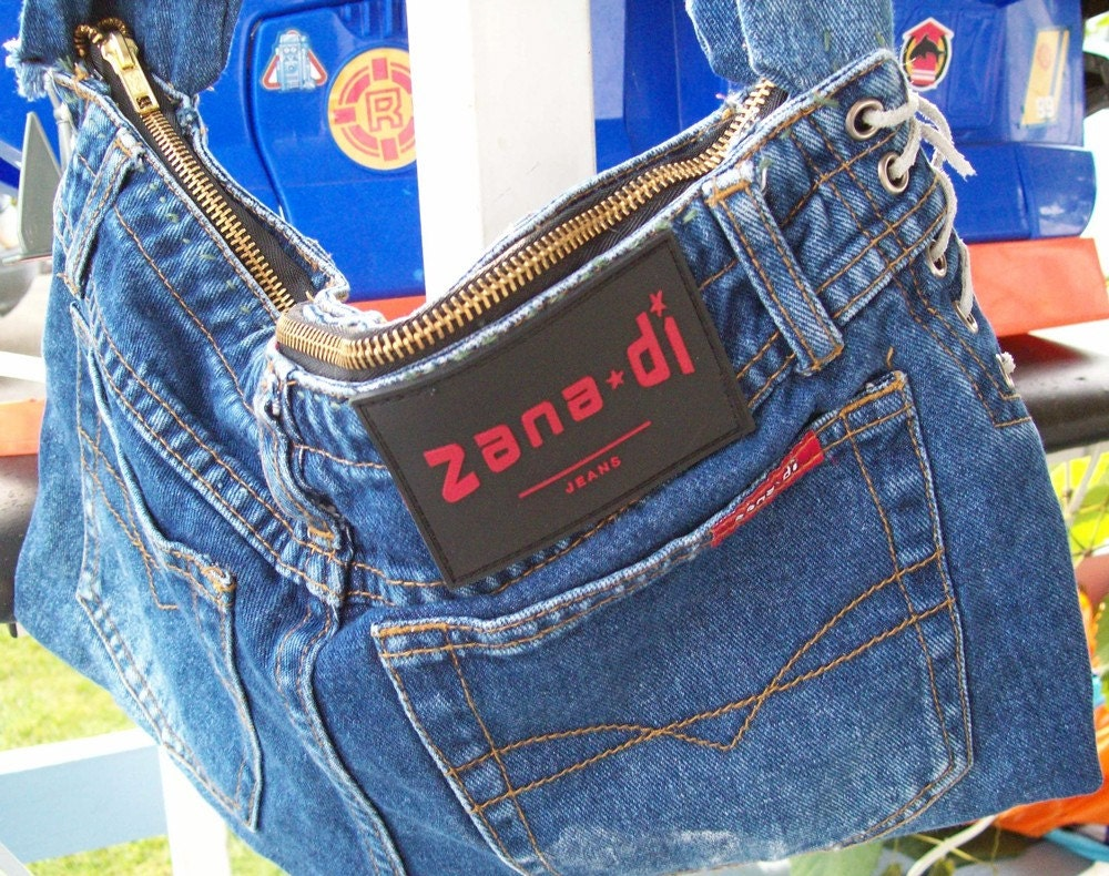 Recycled Blue Jean Handbag
