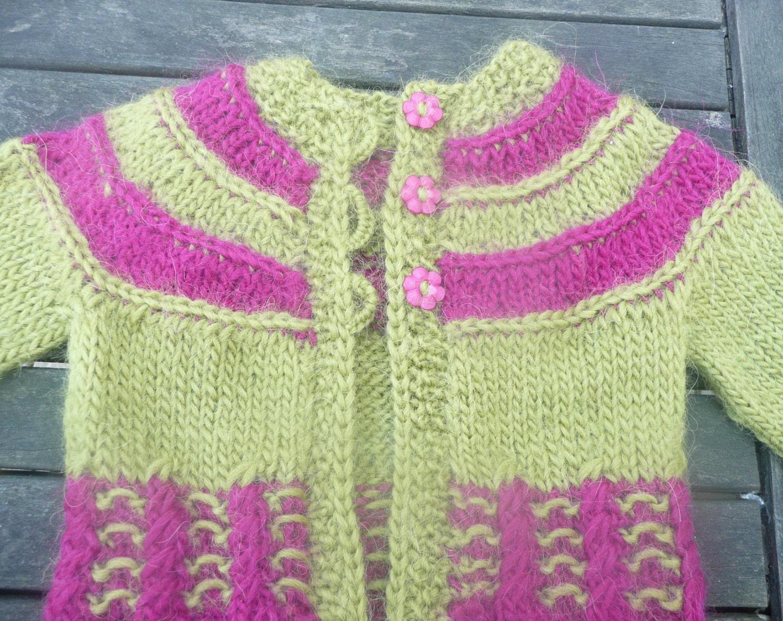 Knitting Pattern For Baby Seamless Yoked Sweater : Items similar to Knitting PATTERN Seamless Top Down Baby Girl CARDIGAN Jacket...