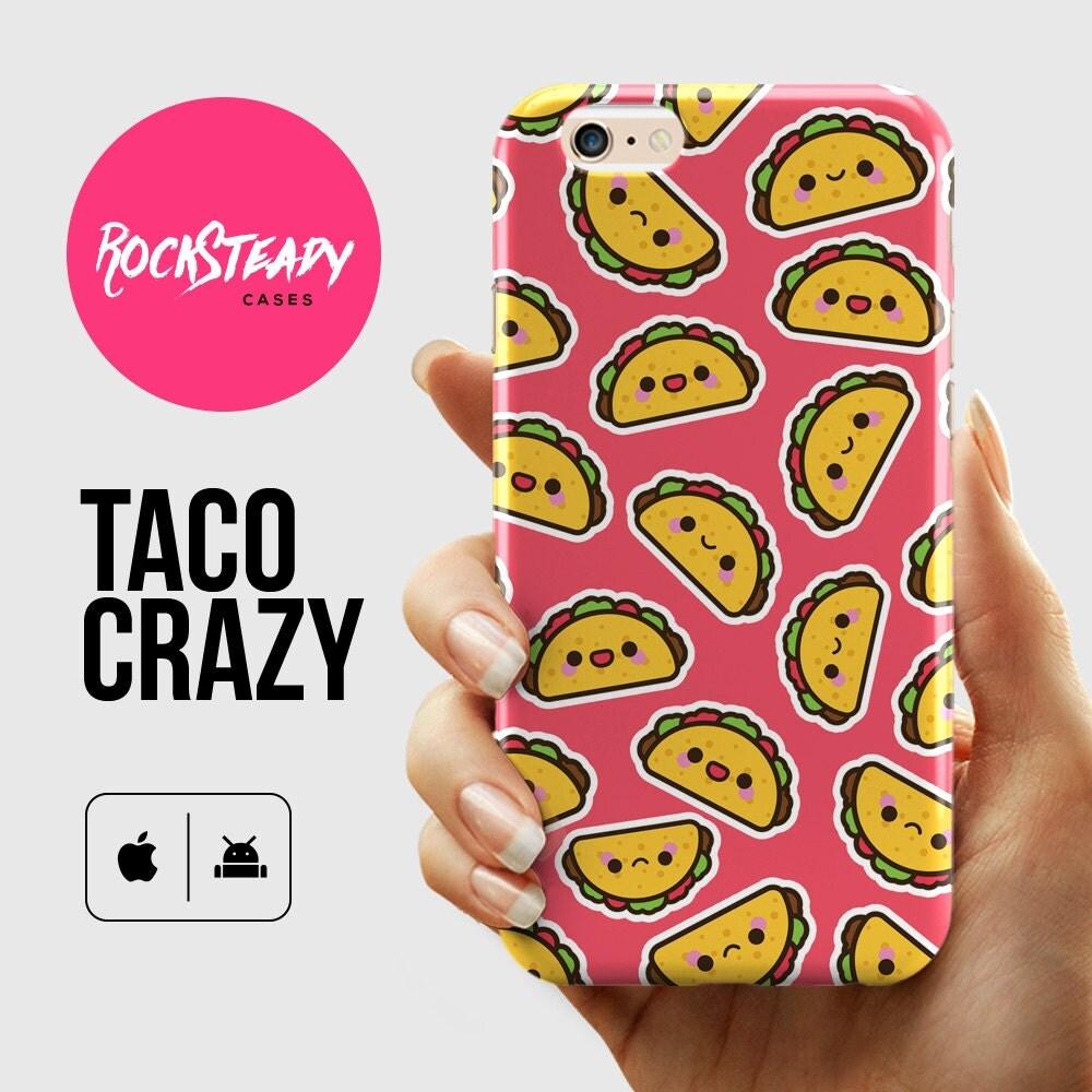 Kawaii Taco iPhone 6 case iPhone 7 case cute pink 6 Plus case Samsung Galaxy S5 case S6S7 Case iPhone 5s Case cute cartoon taco case
