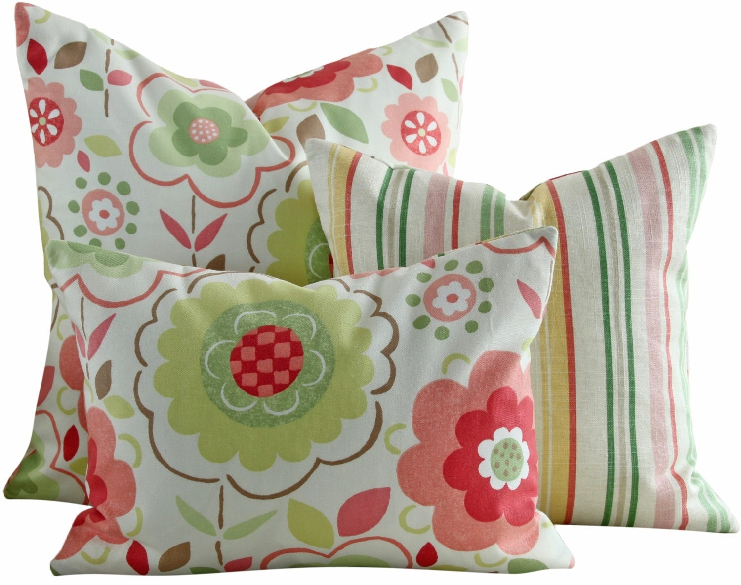 18x18 . Waverly and Waites . Designer Pillow Covers . Pocket Full of Flowers