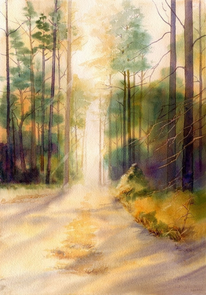 My Fathers Trees Watercolor