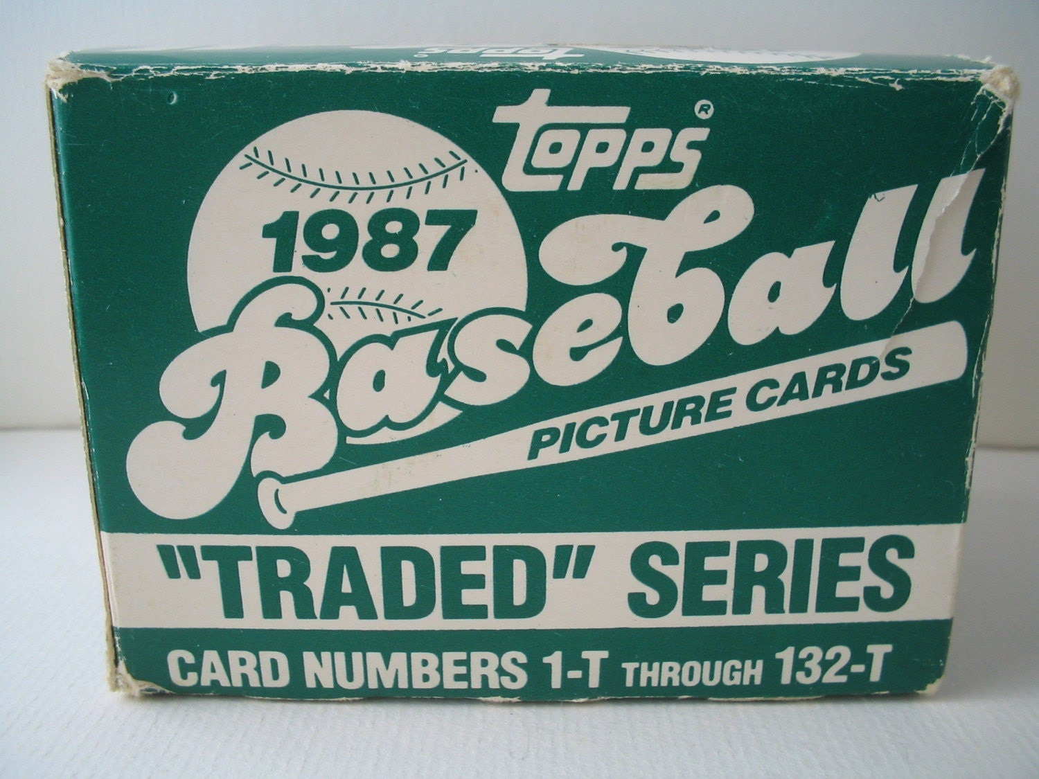 Topps 1987 Traded Baseball Cards Opened Box