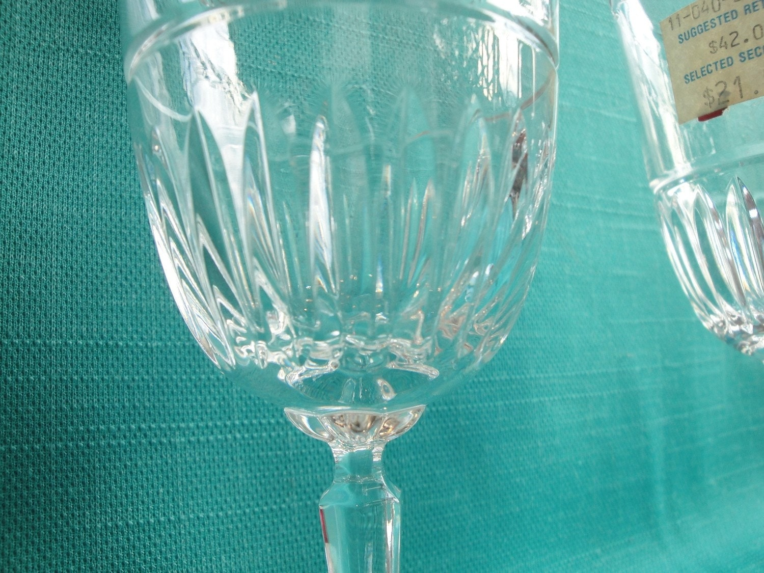 Brand new yet vintage lenox lead crystal wine by dandelionsvintage - Lenox gold rimmed wine glasses ...