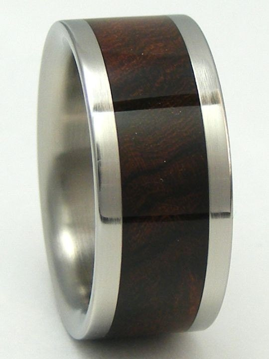 titanium ring desert iron wood band mens or ladies by. Black Bedroom Furniture Sets. Home Design Ideas