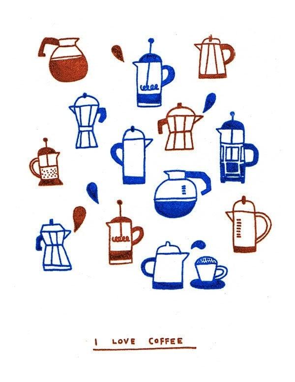 SALE - Card - I Love Coffee