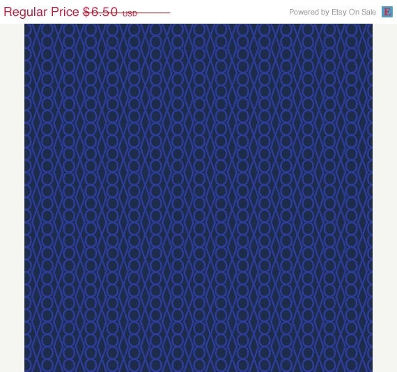 CLEARANCE SALE---1 yard---Dark Purple/ Blue Jewel in Outplayed, Outfoxed, Lizzy House, Andover Fabrics