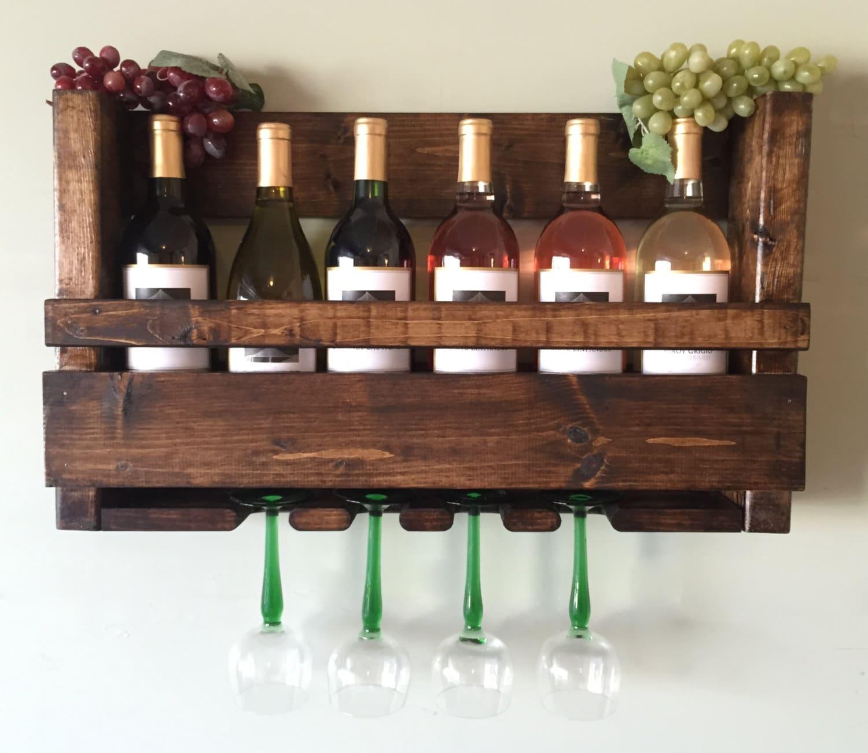 Sale Wine Rack Rustic Modern Wine Glass Holder By