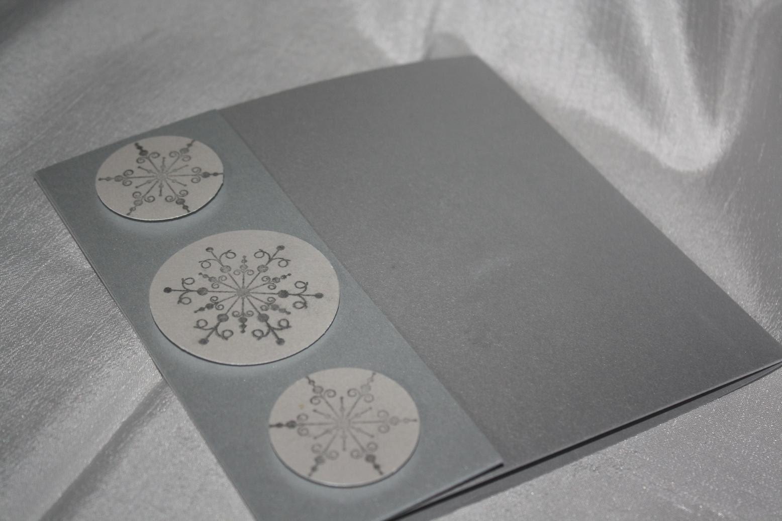 Miranda snowflake pocketfold invitation