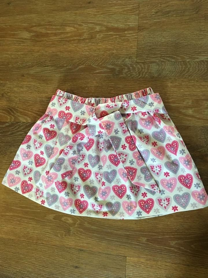 Love heart skirt kids clothing handmade bespoke age 5 girls clothing