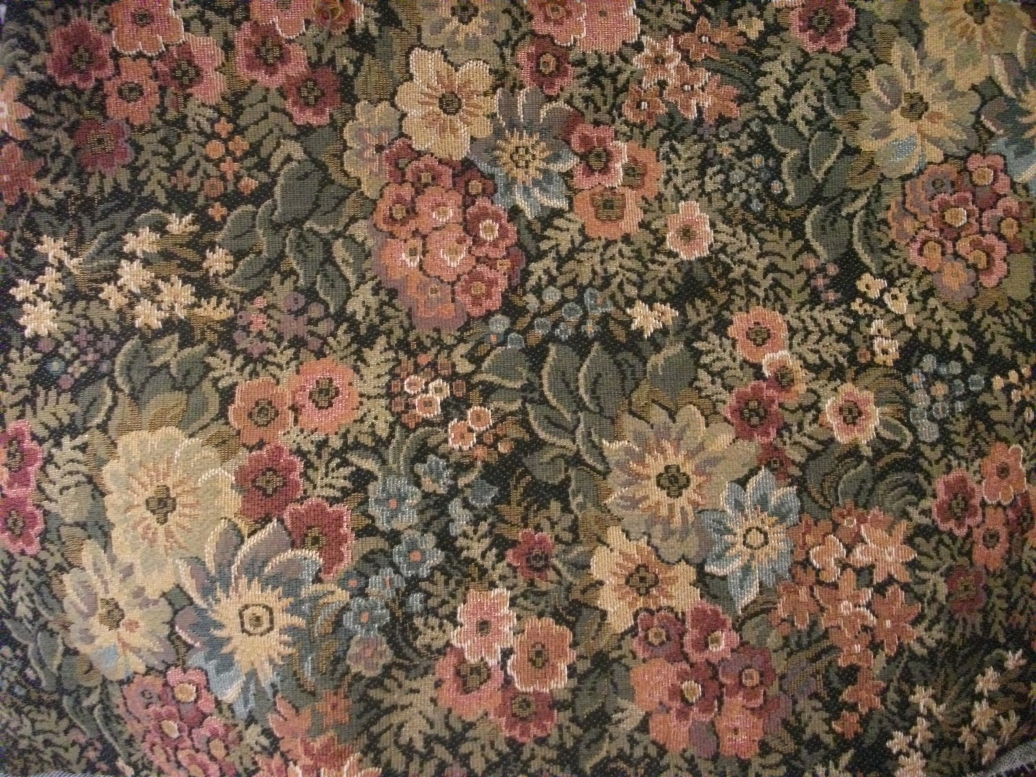 Vintage Tapestry Fabric Belgian 1980s Upholstery By