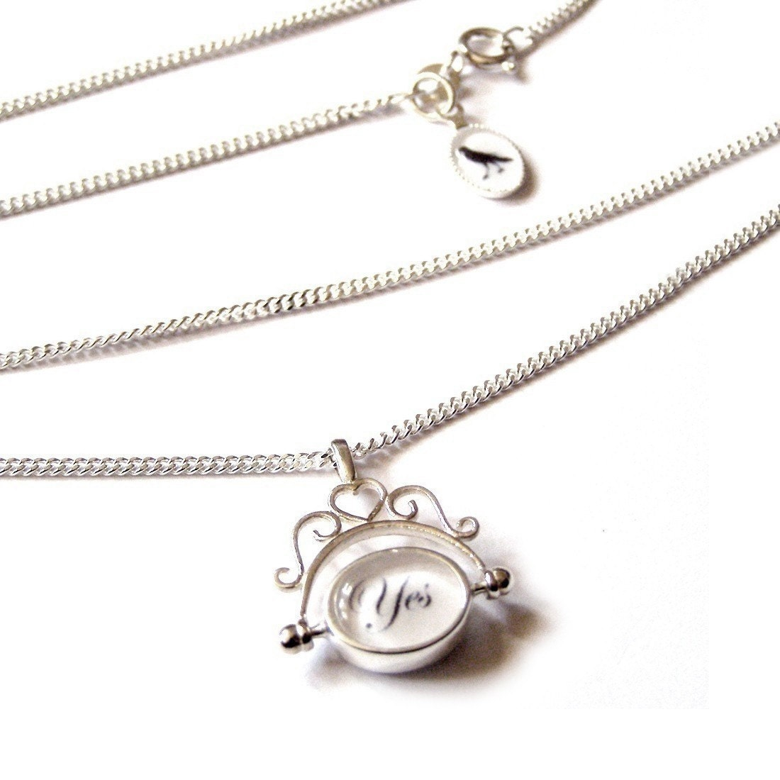 The Original Decision Maker - SOLID SILVER heirloom NECKLACE by adorapop