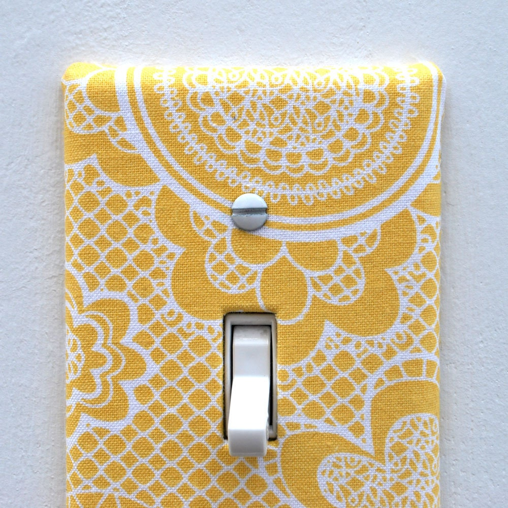 Light Switch Plate Cover Wall Decor Yellow With By Maisonwares