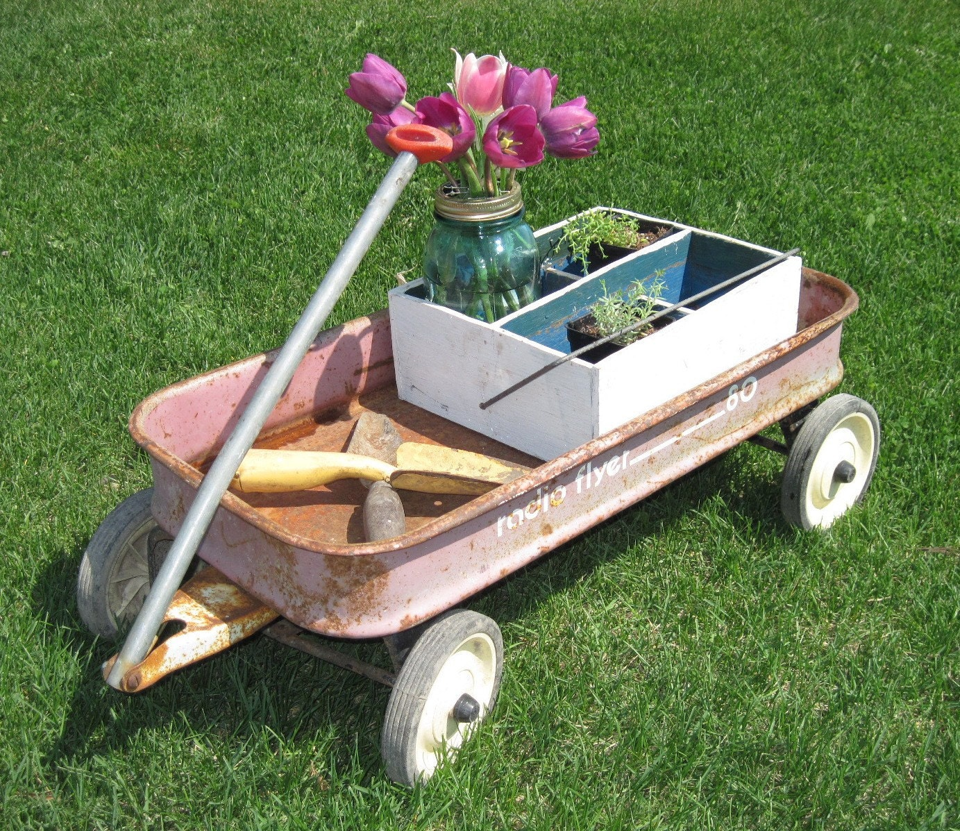 Metal Rustic Garden Decor Photograph | ... Wagon, Radio Flye